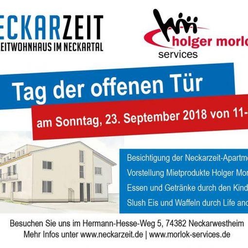 Eröffnung Neckarzeit Neckarwestheim Banner