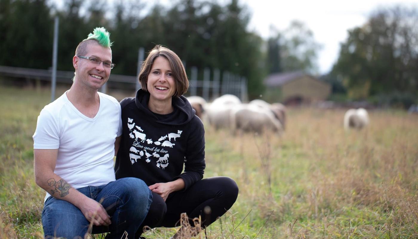 Corinna und Mattias Budig vom Lebenshof Live and let live